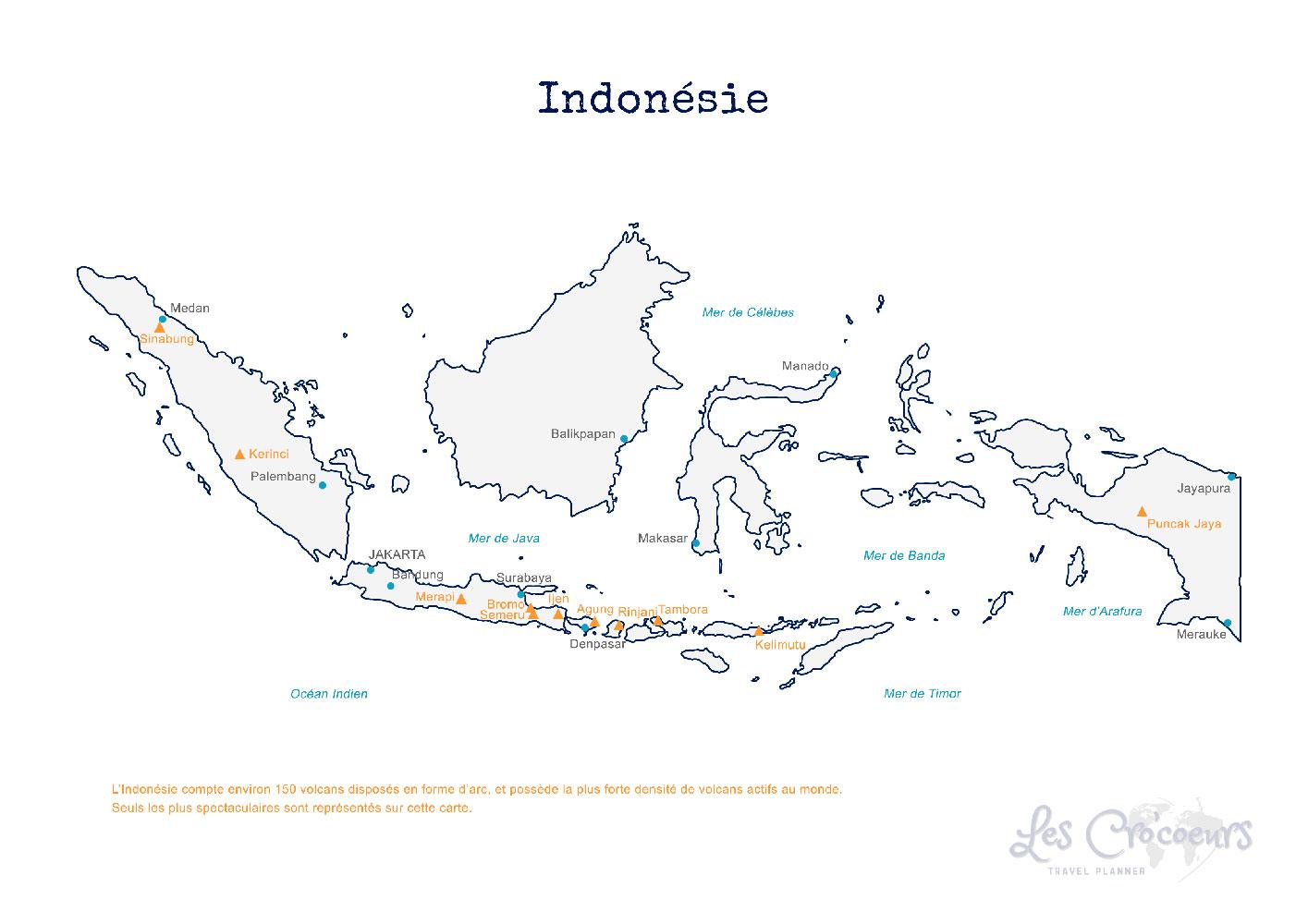 Carte Indonésie - Les Cro'coeurs Travel Planner & Blog Voyage