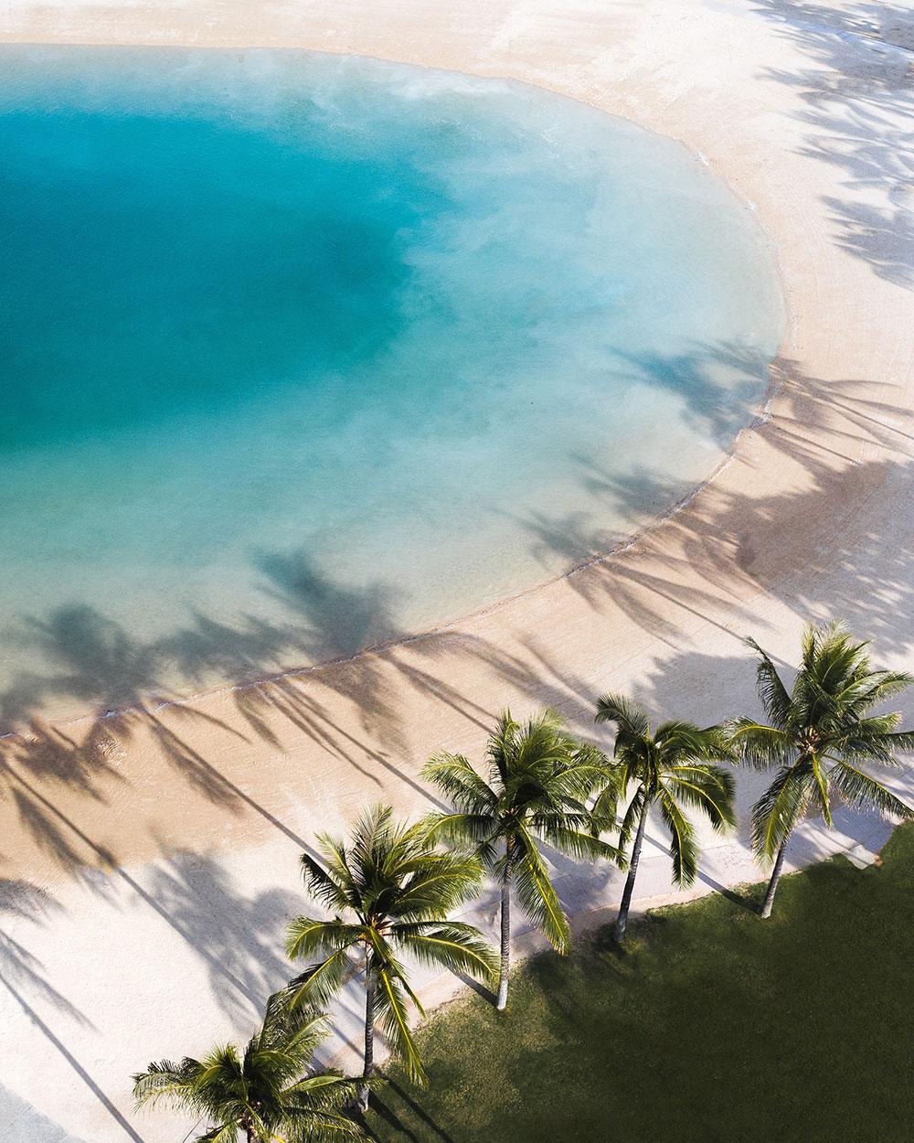 Plage eau turquoise et palmiers - Les Cro'coeurs Travel Planner et Blog Voyage